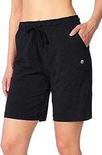 "Women's Bermuda Shorts Jersey Shorts with Deep Pockets 7"" Long Shorts for Women Louge Walking Athletic"