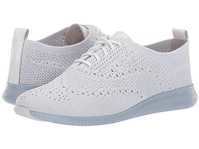 Cole Haan 2.Zerogrand Stitchlite Oxford (Optic White/Glacier Grey Knit/Optic White Patent/Zen Blue) Women