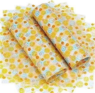 TsunNee Matförpackningspapper, vaxpapper, kakomslag, presentförpackningspapper för pyssel ost, 25 x 21,8 cm, 100-pack