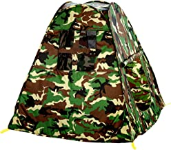 Vokodo Kids Pop Up Camouflage Play Tent Foldable Indoor Outdoor Camping Style Camo Hunting Pretend Play Army Playhouse Boosts Imagination Creative Learning Perfect Toy for Children Boys and Girls