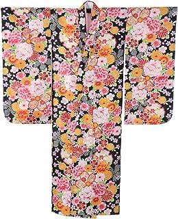 七五三 卒園式 女の子四つ身着物 ポリエステル 小紋 中国製