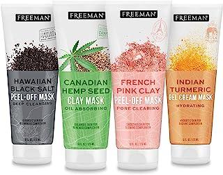 مجموعه تنوع ماسک صورت Freeman Beauty Exotic Blends با ماسک های خشت ، لایه برداری ، ژل کرم صورت ، مراقبت از پوست برای زنان ، لوله های 4pk