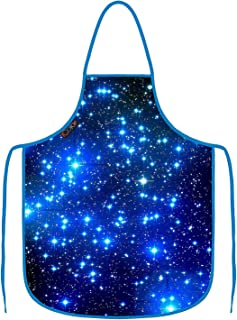 ICOLOR Blue Sky Cooking Apron for Women Funny BBQ or Kitchen Aprons,Machine Washable,Premium Quality Bib Aprons for Women and Men,Ideal for Kitchen,Parties,Garden,Camping & More AP-11