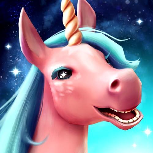 Unicorn Tale - Magic Horse Racing Adventure: Einhorn Spiele, wo man im Pferde Rennen Gegenstände suchen, im Märchen laufen, springen, reiten muß, lauf, verwende Reaktion im Abenteuer