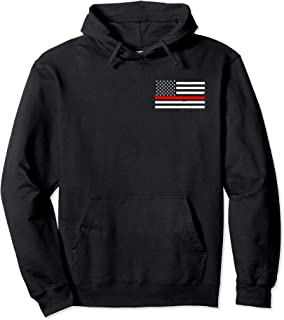 Firefighter Thin Red Line Flag Hoodie