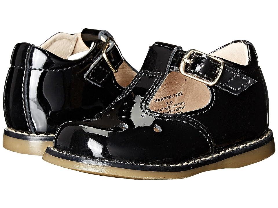 FootMates Harper (Infant/Toddler) (Black Patent) Girls Shoes