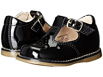 FootMates Harper (Infant/Toddler) (Black Patent) Girls Shoes