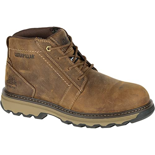6f925e52 CAT (Caterpillar) Parker Unisex Brown Leather Safety Boots - Size UK 11,  Euro