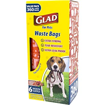 Glad for Pets Extra Large Tropical Breeze Scented Dog Waste Bags and Dispenser