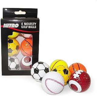 Nitro Novelty Golf Balls Assorted Sports, 6 Pack
