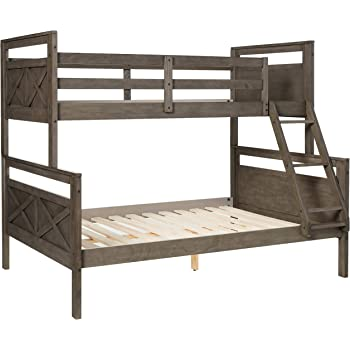 Amazon Com Donco Twin Over Full Barn Panel Bunk Bed Bunkbed Rustic Grey Furniture Decor