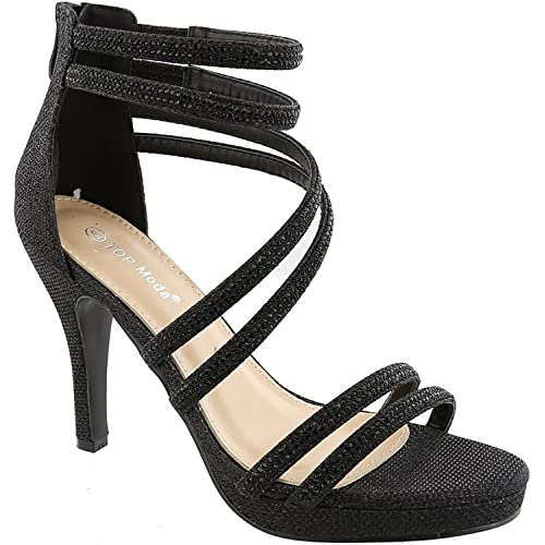 6ee05e7781 Dressy/Formal Sandals: High Heel Ankle Strap Open Toe Inna-1 Sandals by