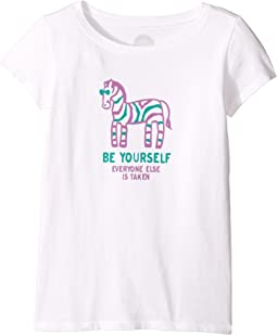Zebra Be Yourself Crusher Tee (Little Kids/Big Kids)