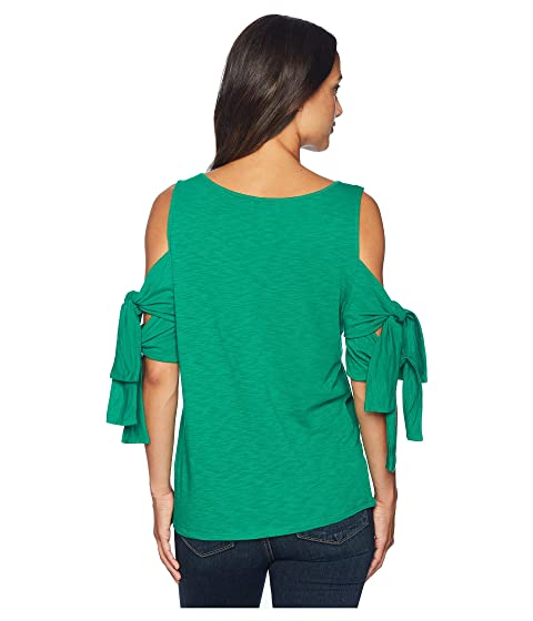 CeCe Double Knit Green Sleeve Tie Lush Top fpqrfw