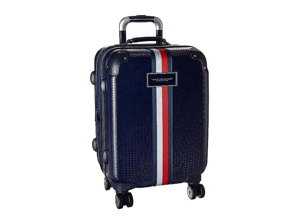 Tommy Hilfiger Basketweave 21 Upright Suitcase (Navy) Luggage