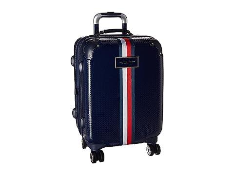 "Basketweave 21"" Upright Suitcase"