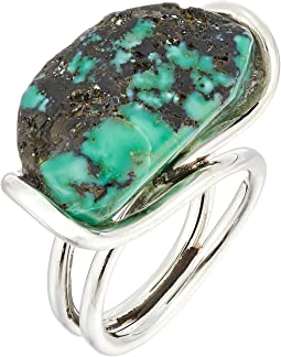 King Baby Studio Wire Ring w/ a Natural Turquoise Stone