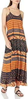 Donna Morgan womens Spaghetti Strap Striped Maxi Dress Dress