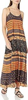 Donna Morgan womens Spaghetti Strap Striped Maxi Dress Dress