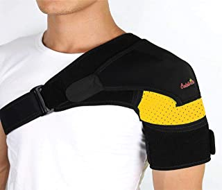 Shoulder Brace-Shoulder Compression Sleeve Strap wrap Provides Support & Ease in Rotator Cuff, Shoulder Pain & Labrum Tear Injury for Men & Women.