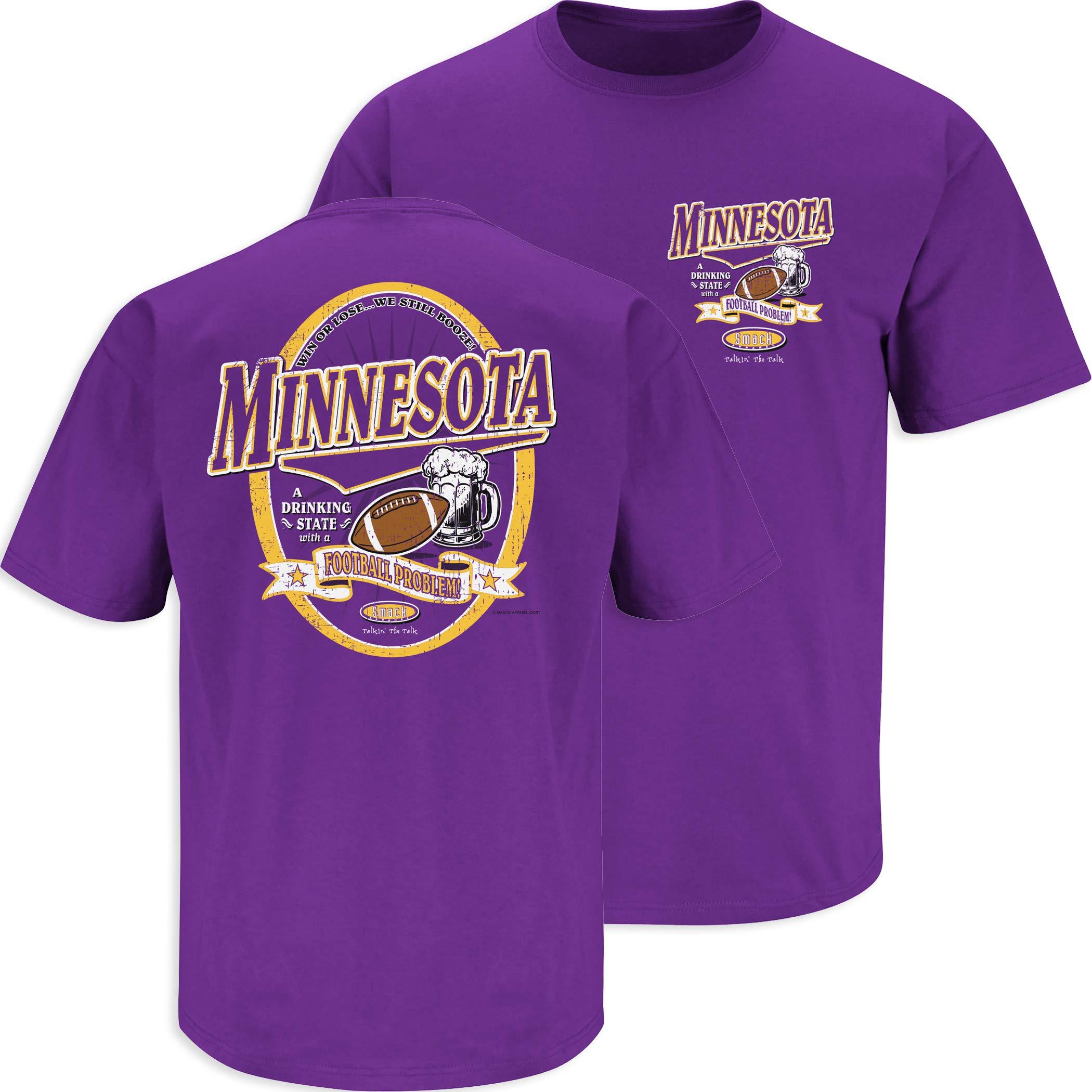 Ventiladores Minnesota Vikings Minnesota. A Drinking State With A Football Problem, camiseta de color morado (S-5X), XXXL, Púrpura: Amazon.es: Deportes y aire libre