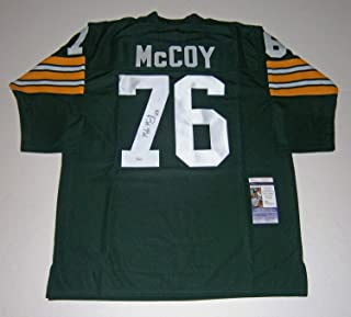 ae1be9edcf2 Packers Mike Mccoy Autographed Signed Custom Green Jersey With #76 - JSA  Authentic Memorabilia Autographed
