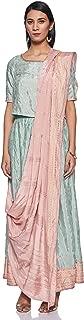 W for Woman Women's Rayon straight Salwar Suit Set (19FEWS12330-112517_ Green_ 6)