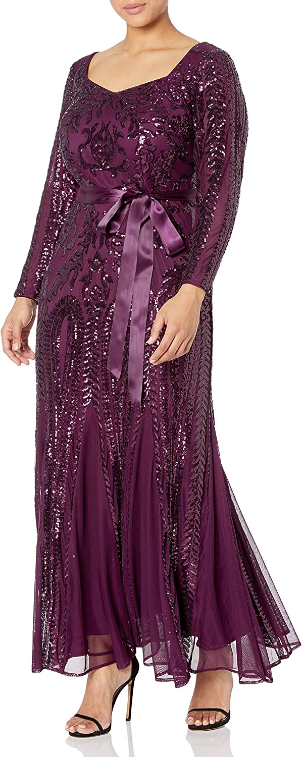 Topics on TV RM Richards Women's Plus Sequin Sweetheart New arrival Size