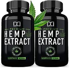 (2 Pack) Hemp Oil Capsules 30000MG for Pain Relief Anxiety Sleep Mood Immune - Best Natural Organic Hemp Seed Oil Powder E...