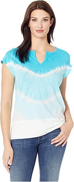 Playa Vintage Split-Neck T-Shirt