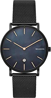 Hagen Slim Minimalist Three-Hand Watch, 40mm