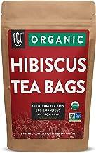Organic Hibiscus Tea Bags   100 Tea Bags   Eco-Conscious Tea Bags in Kraft Bag   Raw from Egypt   by FGO