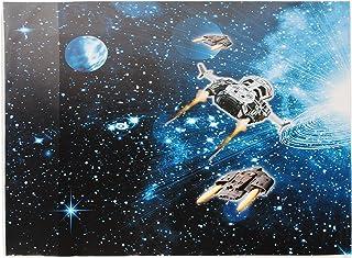 """/"""" Weltraum 50 cm * Space Raumschiff /"""" Schreibtischunterlage // Unterlage"""