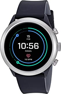 Fossil Men's Digital Wrist Watch smart Display and Silicone Strap, FTW4019