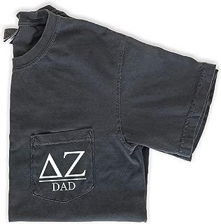 Delta Zeta Dad Shirt Sorority Comfort Colors Pocket Tee