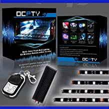 OCPTY 12 Pack Motorcycle LED Light Kit Strips with Remote Controller Multi-Color Strips 12-5050-RGB Accent Glow Neon Lights Lamp fit for KTM BMW Harley Davidson Honda Kawasaki Suzuki Ducati