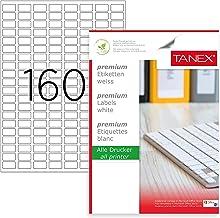 TANEX OFC-108 Vielzweck Etiketten farbig 13 x 40 mm 200 Etiketten gelb