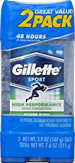 Gillette Clear Gel Power Rush Antiperspirant and Deodorant (3.8oz) - 2 Count