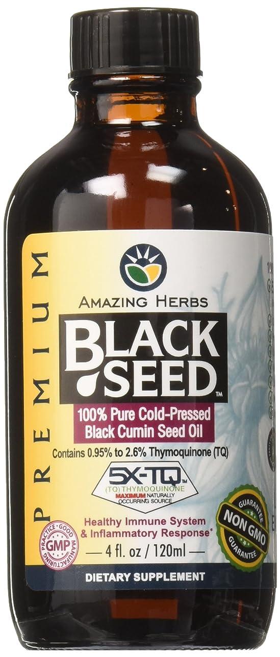 ビリーヤギめんどり差海外直送品Black Seed Oil, 4 Oz by Amazing Herbs