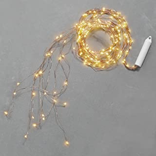 LampLust Fall Fairy String Light Spray - Battery Operated, 9 Cascading Strands, 180 LED Lights on Bendable Copper Wire, 8.5 Feet, Waterproof for Outdoor Decoration or Watering Can Fountain