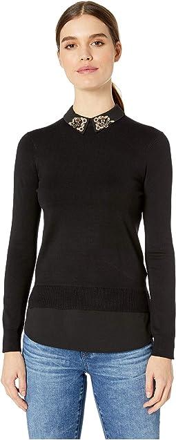 Moliiee Collar Detailed Sweater