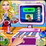 Supermercado caja registradora supermercado cajero juego, diversión centro comercial juego de gestión del tiempo libre