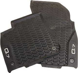 Audi 4M1061221C041 Allwetterfußmatten 2X Gummimatten vorn Fußmatten Gummi schwarz, mit Q7 Schriftzug in Kontrastfarbe