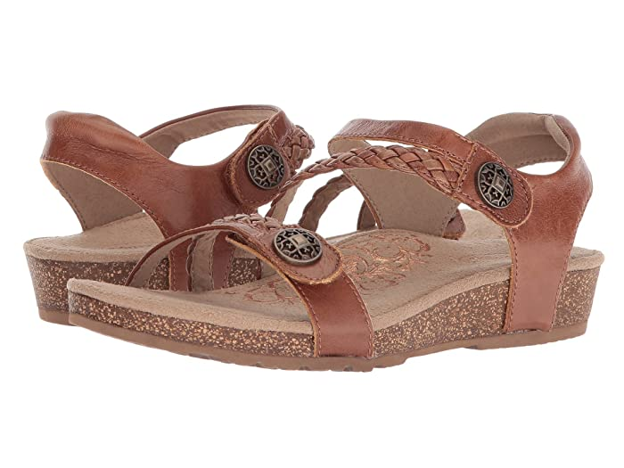 Aetrex  Jillian Quarter Strap (Cognac) Womens Sandals