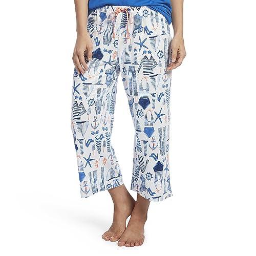 0104f870c96 HUE Women s Printed Knit Capri Pajama Sleep Pant