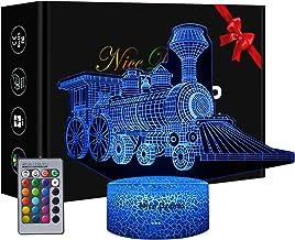 Trein-beeld 3D illusie lamp, 3D nachtlampje met 16 kleuren wijzigen en afstandsbediening, verjaardagen en kerstcadeaus voo...