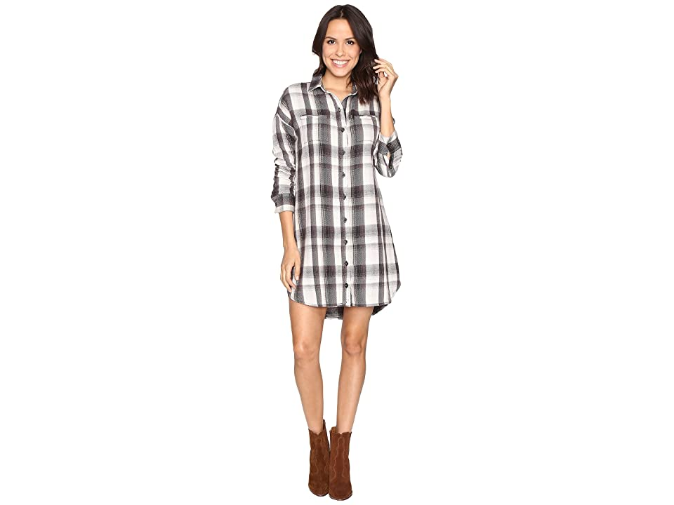 Alternative Yarn-Dye Flannel Timberwood Shirtdress (Grey Plaid) Women