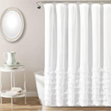 Lush Decor Avery Shower Curtain, 72 by 72-Inch, White