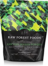 RAW Forest Foods - Raw Pine Pollen Powder (500 Grams) - Cracked Cell Wall, Single Source, Wild-Harvested - Supports Immune System Health, Boost Hormonal Balance, Packed with Androgenic Herbal Benefits
