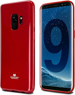 Goospery Pearl Jelly for Samsung Galaxy S9 Case (2018) Slim Thin Rubber Case (Red) S9-JEL-RED